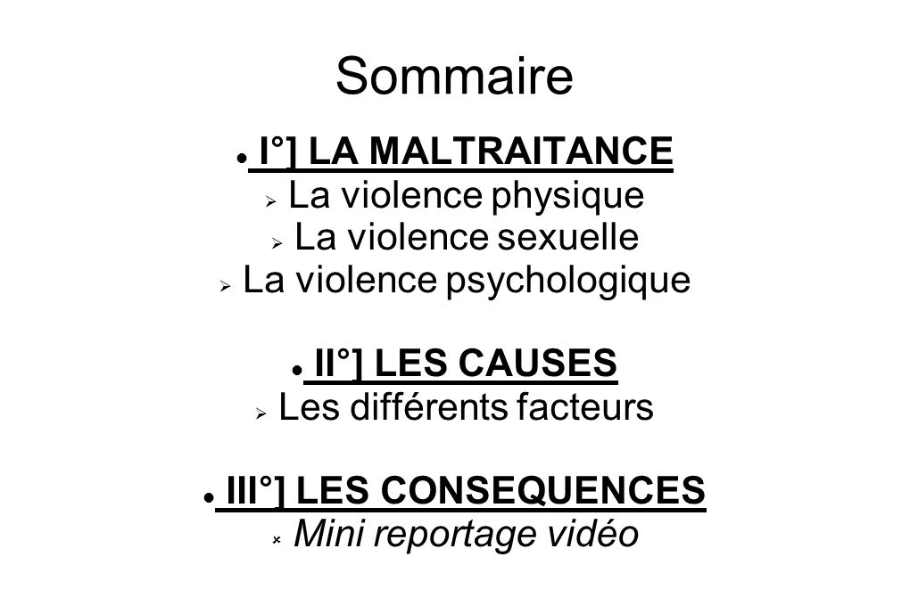 III°] LES CONSEQUENCES